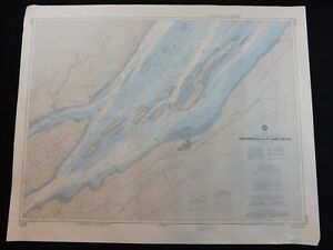 Vintage Noaa Nautical Chart Saint Lawrence River Quebec Canada 9th Ed 1985