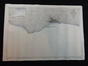 Vintage Noaa Nautical Chart Portugal Baia Do Funchal Praia Formosa 22nd Ed 1983