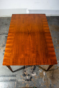 Mid Century Modern Dining Table Lane Rhythm Extension Leaf X2 Walnut Vintage
