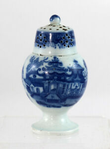 Early 19th C English Pearlware Chinoiserie Pattern Pepperpot 11939