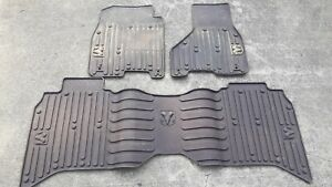 14 Dodge Ram 3500 Factory Rubber Slush Floor Mats