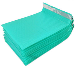 Pick Size Quantity Tuff Bubble Teal Poly Bubble Mailers 0 6x10 Or 2 8 5x12