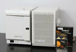 Varian 3900 Gc Gas Chromatograph Saturn 2100t Ion Trap Gc ms 2000 W Software