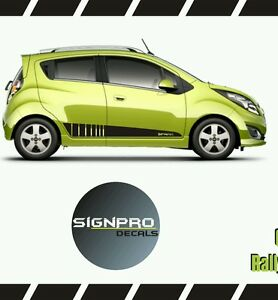 Chevy Spark Chevrolet Rally Racing Side Stripes Personality 2013 15 Customize