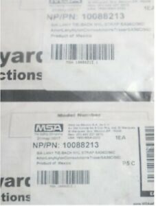Qty 2 Msa Safety Sure stop Lanyard With 36c Harness 36c Anchorage 10088213
