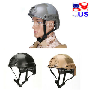 Tactical Airsoft Fast MH Type Helmet Low Price Version w Rails NVG Mount USA $29.69