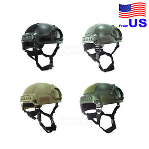 Airsoft Tactical Hunting MICH 2001 Combat Helmet with Side Rail