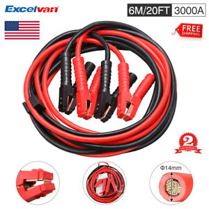 Heavy Duty 20 Ft Battery Booster Cable Emergency Power Jumper 3000 Amp W case Us