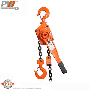Prowinch 3 Ton Lever Chain Hoist 5 Ft G80 Chain