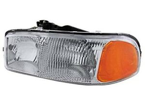 Driver Side Headlight Headlamp For Gmc Sierra Truck Yukon Suv