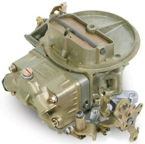 Holley Performance Carburetor 500 Cfm 2 Bbl manual Choke gas 2300 gold Chromate