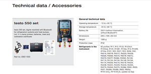 Testo 0563 1550 Digital Manifold Kit Bluetooth Supported