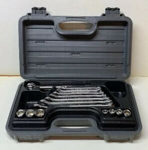 Vintage Stanley Tools 15 Piece Socket Wrench Set Sae Made In Usa