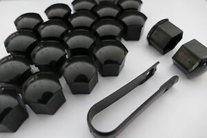 22 Piece Premium Tesla Lug Nut Caps Covers W Tool In Gloss Black For S 3 X Y