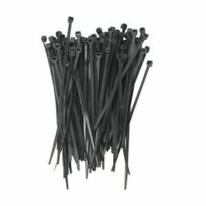 1000 Pack 4 Inch Zip Ties Nylon Black 18 Lbs Uv Weather Resistant Wire Cable