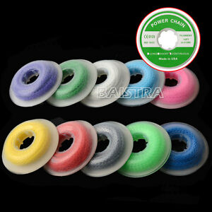 50 X Dental Orthodontic Continuous Elastolink Elastic Ultra Power Chain Colorful