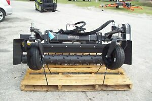 M6h Harley Power Landscape Rake For Skid Steers 72 Wide Hydraulic Angle