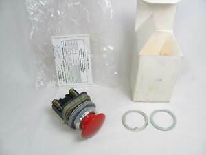 Allen Bradley Push Button Switch 800t d6d1 Ser T Red New In Box Nib