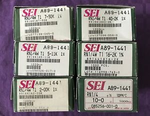 6 Boxes Of Assorted Sei Rn1 4w T1 1 Metal Film Fixed Resistors