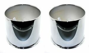 2x American Racing Chrome Center Caps Open End Push thru For 4x4 8x6 5