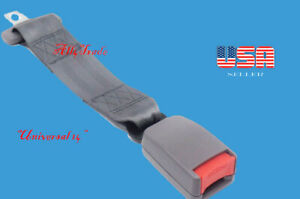 Extension 14 Safety Seat Belt Gray Belt Extension With Buckle Clip Width 7 8