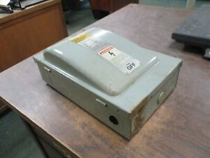 Ite Fusible Safety Switch disconnect F351 30a 600v 3ph Used