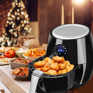 4qt 1350w Air Fryer Lcd Touch Screen Oil Free 360 Heating Cooking Kitchen