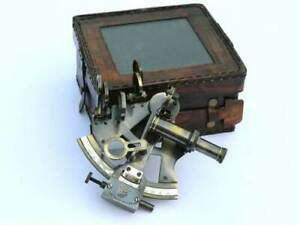 Leather Kelvin N Hughes Sextant New Sextant Antique German Nautical Case Box