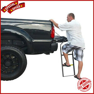 Truck Tailgate Ladder Cargo Auto Step Lifted Handle Portable Folding Pickup Bed