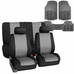 Universal Neoprene Seat Covers For Car Suv 5 Colors Combo With Gray Floor Mats