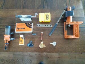 Lyman Orange Reloading Press With Accessories