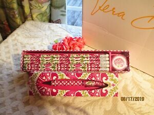 Vera Bradley Pencils In Box Ballpoint Ink Pen julep Tulip New In Box tags