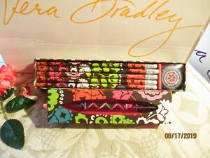 Vera Bradley Pencils In Box Ballpoint Ink Pen lola New In Box tags