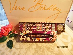 Vera Bradley Pencils In Box Ballpoint Ink Pen plum Crazy New In Box tags