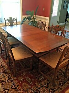 Antique Berkey And Gay Dining Set With Three Side Pieces May Break Up Set