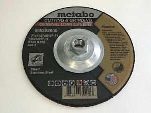 Qty 2 Metabo 655282000 10 7 x1 8 A24t Type 27 Pipeline Wheels 10 pack