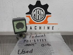 Federal Dei 11111 Maxum Electronic Indicator 0001 0 5 Used With Warranty