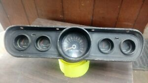 1966 Ford Mustang Instrument Cluster 5 Gauge C6zf 10843 Used