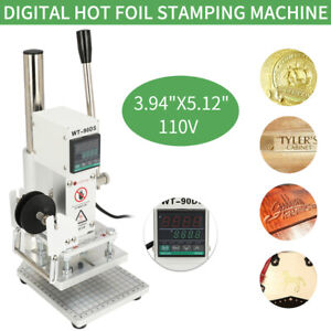 Wt 90ds 10x13cm Manual Hot Foil Stamping Machine Digital Display 110v 400w