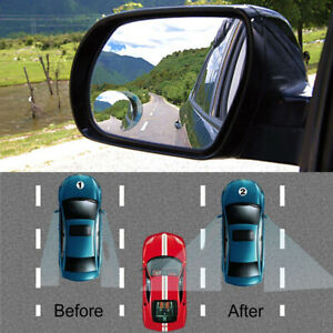 Universal Car Rear View Mirror 360 Rotating Wide Angle Convex Blind Spot Parts