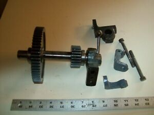 Alloy Steel Cast Iron Back Gear Assembly From Vintage Atlas Metal Lathe