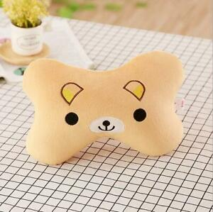 2pcs Cute Fashion Cartoon Bear Plush Car Headrest Neck Pillow Bone Pillow