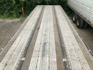 2016 Utility Flatbed Combo 48x102 Spread Axles Good Condition