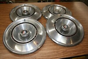 Full Set Of Four 4 Vintage Buick Wheel Covers Or Hub Caps Nice Buick Emblem