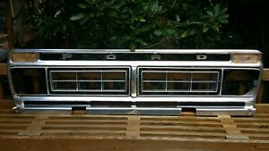 1976 1977 Ford Truck F100 F150 Grille W Inserts And Markers Fits 1973 1979