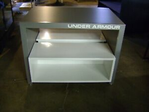 Under Armour Nesting Table Style Grey White Display Store Fixtures Set 2