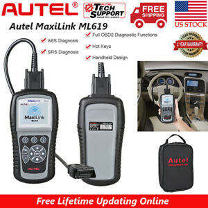 Autel Ml619 Al319 Obd2 Scanner Automotive Diagnostic Tool Abs Srs Code Reader