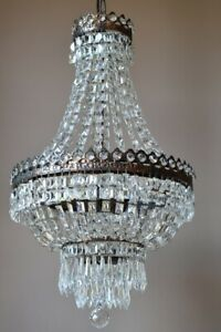 Empire Purse Antique Vintage Crystal Chandelier Home Pendant Lighting