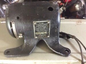 Antique Dictaphone Electric Motor Double Shaft Type N