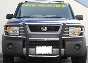 Fits 2003 2008 Honda Element Hpt Grill Grille Brush Guard Stainless Steel